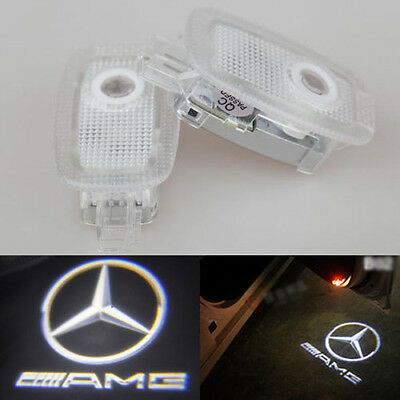 2x Ghost LED Door Step Courtesy Shadow Laser Light Mercedes 07-12 S-CLASS AMG