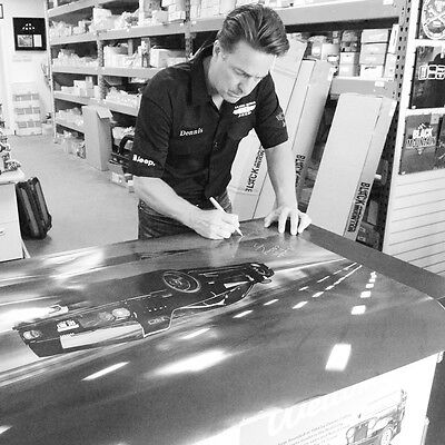 Gas Monkey Garage Ferrari F-40 Poster Signed by Dennis Collins from Fast n Loud