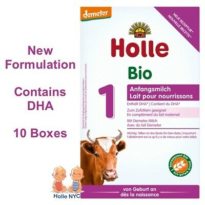 Holle Stage 1 Organic Formula 10 BOXES 400g 032019 FREE SHIPPING