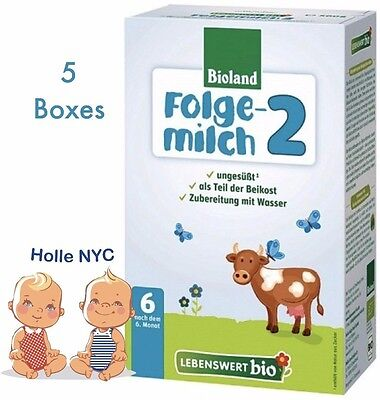 Holle Lebenswert Stage 2 Organic Formula5 BOXES500g 062019 FREE PRIORITY MAIL