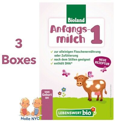 FREE PRIORITY MAIL Holle Lebenswert Stage 1 Organic Formula3 BOXES 052019
