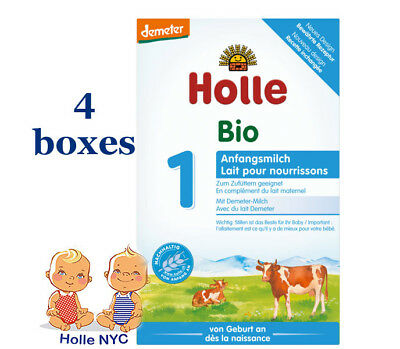 Holle Stage 1 Organic infant powder Formula 0-6 months 4 boxes 400g 032019