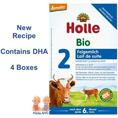 Holle Stage 2 Organic Formula 4 BOXES600g092018 FREE PRIORITY MAIL