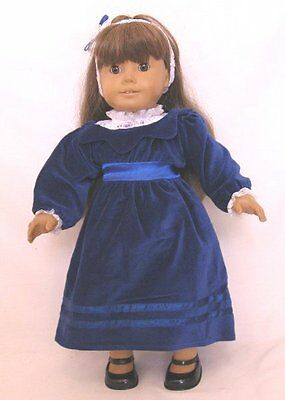 Doll Clothes 18 Doll Victorian Dress Blue Fit American Girl Doll Samantha