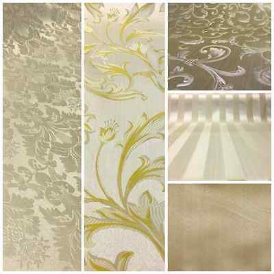 ChampagneGold Damask Jacquard Brocade Fabric 118 By the Yard Many Design