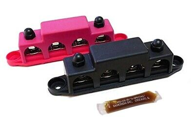 PAIR Black 516 - Red 516  4 Post busbars 250A  48Vdc FREE Electrical Grease
