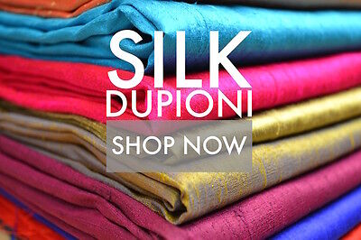 100 Pure Silk Dupioni Fabric 54Wide BTY Drape Blouse Dress Craft FREE SHIPPING