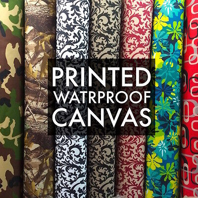 Printed Canvas Fabric Waterproof Outdoor 60 wide 600 Denier by the yard