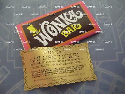 Willy Wonka - Chocolate Factory Replica Wonka Bar and Golden Ticket Gene Wilder