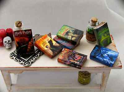 7 HARRY POTTER Miniature Books Dollhouse 112 Scale PROP Faux Books Magic