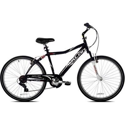26 NEXT Avalon Mens Comfort Bike with Full Suspension Black