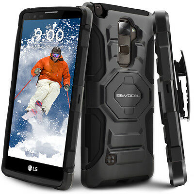 LG G Stylo 2 PLUS Case Rugged Holster Case with Kickstand - Belt Swivel Clip