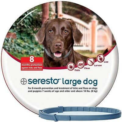 Seresto Flea - Tick 8 Month Collar for Large Dogs over 18 lbs