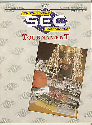 1989 SEC Tournament Prog Kentucky Georgia Tennessee LSU Auburn Alabama A25
