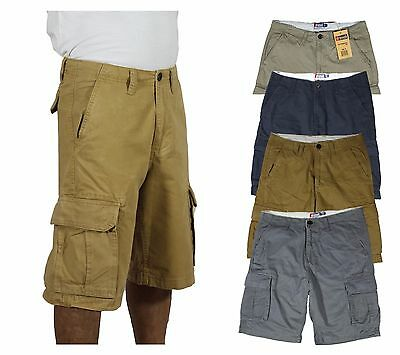 Mens premium cargo shorts six pockets 100 cotton