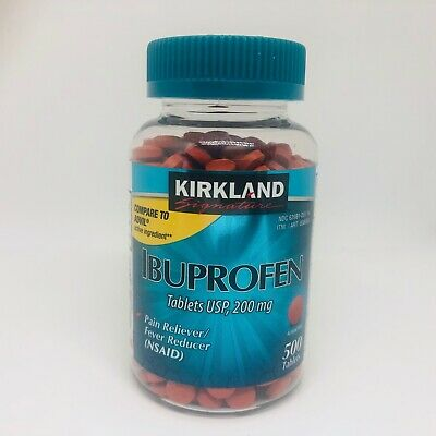 Kirkland Signature Ibuprofen 200mg 500-2000 tablets NSAID FeverPain USP