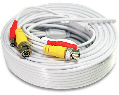 50 Ft Power - Video Pre-made Ready-Made Siamese Cable for CCTV Security Camera
