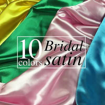 Bridal Satin Fabric Silky Poly 60 Wide Heavy Wedding Dress Drapery By The Yard