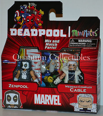 Marvel Minimates Deadpool Wave 65 Zenpool and Messiah Complex Cable 2-Pack