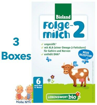 Holle Lebenswert Stage 2 Organic Formula3 BOXES500g 012019 FREE PRIORITY MAIL