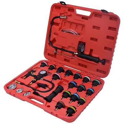 27PCS Radiator Pressure Tester Vacuum-Type Cooling System Refill Kit WCase New