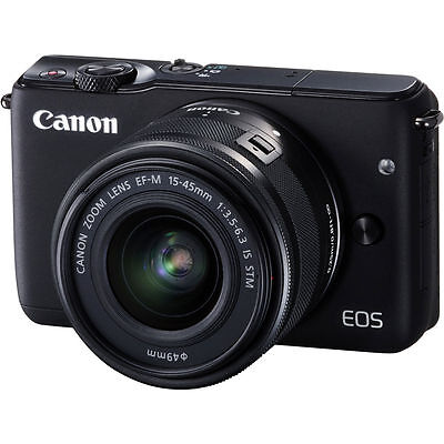Canon EOS M10 Mirrorless Digital Camera with 15-45mm Lens Black US