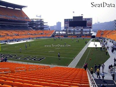 2 Steelers vs Vikings Tickets Lower Level Close to the Aisle