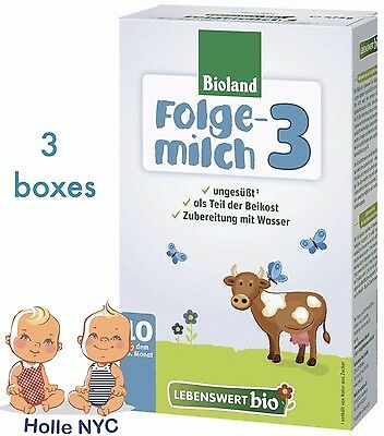 Holle Lebenswert Stage 3 Organic Formula 3 BOXES 052019 FREE PRIORITY MAIL