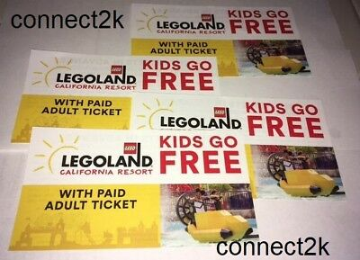 KID CHILD GO FREE wpaid Adult Legoland CALIFORNIA Email Code in MINS 12312020