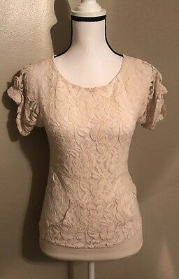 Wet Seal Size Xs Cream Lace Top