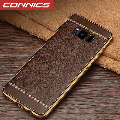 For Samsung Galaxy S8 Plus Case Shockproof Slim Leather Soft Hybrid Cover Skin