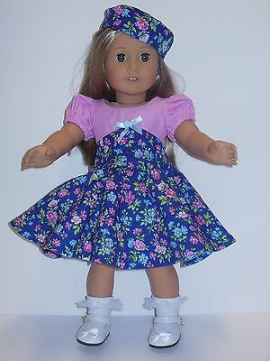 Doll Clothes-Handmade Dress for American Girl or other 18 dolls-Age 3-