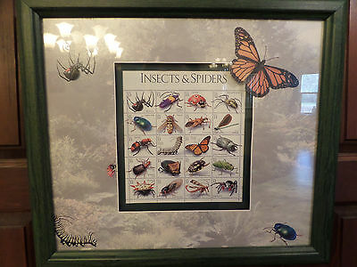 US Scott 3351 Insects and Spiders Mint sheet of 20 stamps framed uniquely