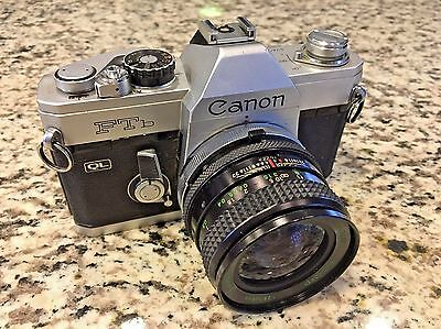Canon FTb 35mm SLR Film Camera with 24mm f2-8 Wide Angle Lens