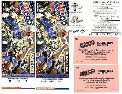 Indianapolis 500 2007 Tickets Package for 2 Indy - High in Turn 3- Aisle seats