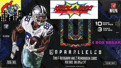 2016 UNPARALLELED FOOTBALL 14 CASE 4BOX BREAK 3 Philadelpha Eagles