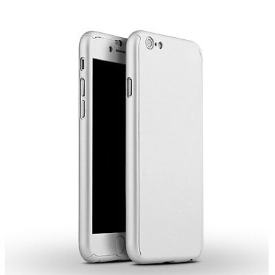 Glass Ultra Slim Full Body Protector Case Cover For App iPhone 6 6S 4-7 Silver