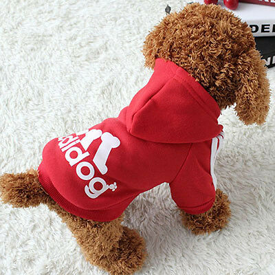 Pet Dog Hoodie Cotton Puppy Sport Jacket Coat Spring Clothes For Medium Dogs M