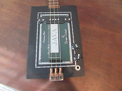 Java 3 string acousticelectric cigar box guitar
