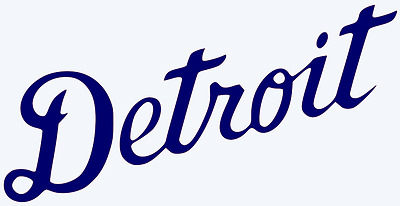 Detroit Tigers Wordmark Script Decal Sticker - You Pick Color - Size