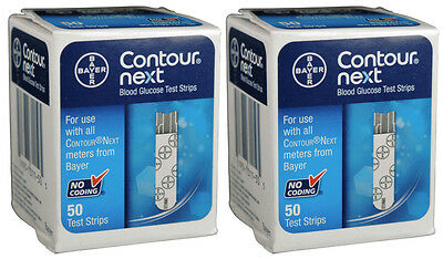 Bayer Contour Next Test Strips - 100 count 2 Boxes of 50