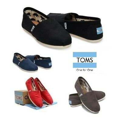 TOMS Womens Classic Canvas Slip Flats Shoes US Sizes Authentic Variety