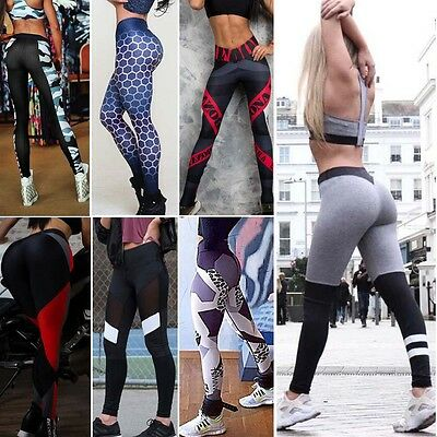 Damen Sport Leggings Hose Training Laufhose Fitnesshose Yoga Gym Jogging Tights