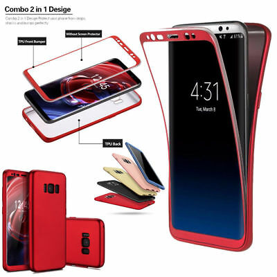 Ultra Slim Soft Silicon 360 Full Shockproof Case Cover For Samsung Galaxy S8S8-