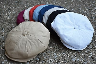 Mens Newsboy Cap Cabbie Driving Light Weight Applejack Cotton Cap EPnsb2412
