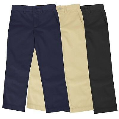 Boys School Uniform Pants New Size 4-16 Regular - Husky Flat Front Style NWT NEW
