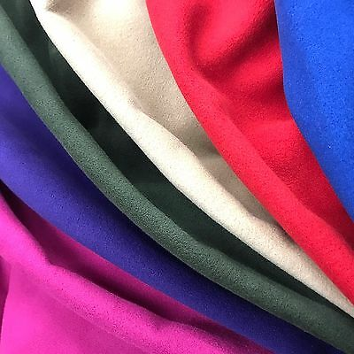 Brushed Wool Polyester Coating Fabric Soft 58 Wide 15 Colors By The Yard