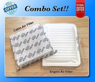 COMBO SET FOR CAMRY VENZA 4 CYL Engine - Cabin Air Filter A5649 C35667 US Seller