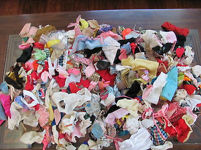 200- Pieces Lot of Small Doll Clothing Vintage Assorted Dress Pants Barbie 4