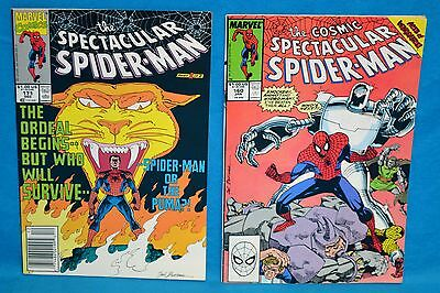 Lot of 2 Marvel Comics The Cosmic Spectacular Spider-Man 160 171 1990